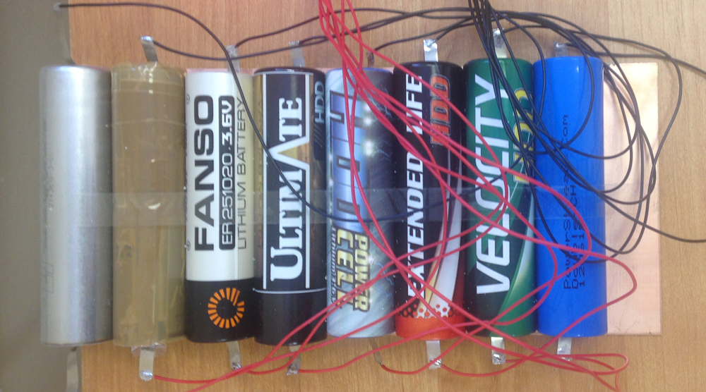 Eight lithium batteries of the first phase of the test